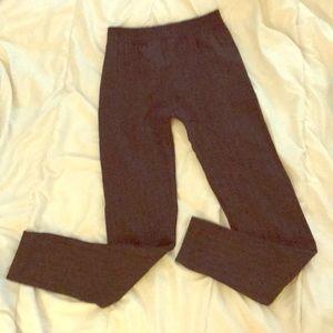 Aeropostale Dark Grey Rib-Knit Leggings